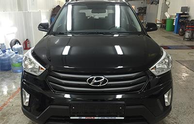 Оклейка защитной пленкой переденей части Hyundai Creta