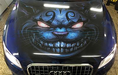 Винилография на капот Audi Q5