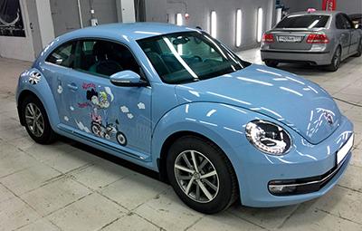 Винилография на бортах автомобиля VW Beetle
