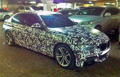 Полная оклейка BMW 3 серии F 30 в камуфляж