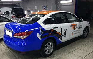 Брендирование Nissan Almera