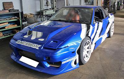 Оклейка Nissan 240SX под дрифт