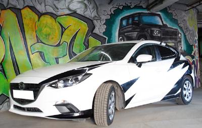 Наклейки на Mazda 3