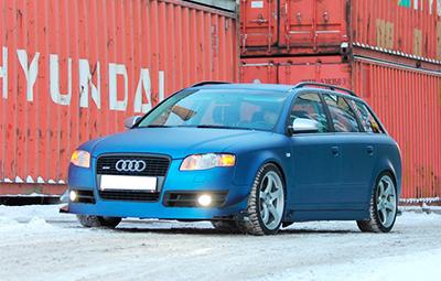 Полная оклейка Audi A4 пленкой Arlon Deep Ocean
