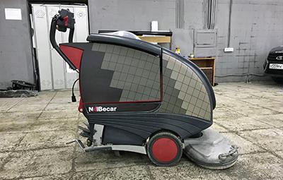 Брендирование моющей машины для компании Becar