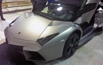Полная оклейка Lamborghini Aventador Roadster в серый матовый металлик