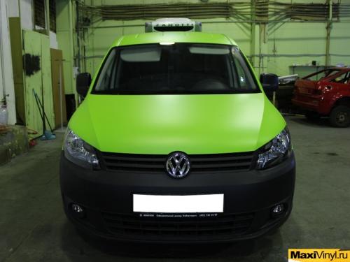 Полная оклейка VW Caddy в салатовый мат KPMF