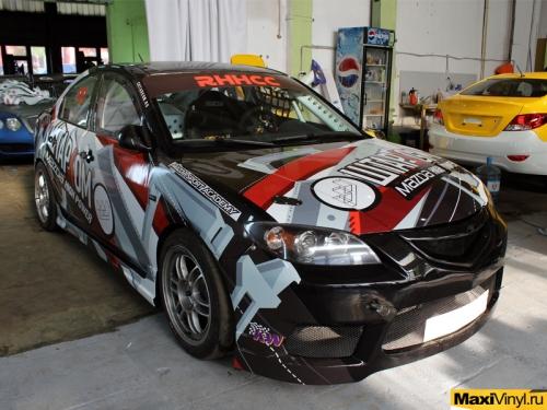 Брендирование Mazda 3 для компании Штарком