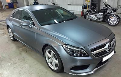 Полная оклейка в прозрачный мат Mercedes-Benz CLS