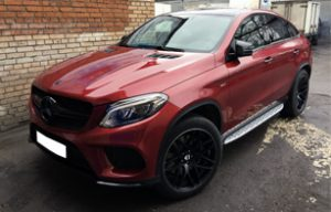 Антихром на Mercedes-Benz GLE Coupe