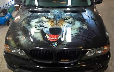 Винилография на капот BMW X5 E53