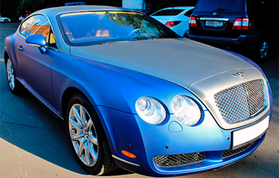 Оклейка пленкой Bentley Continental GT