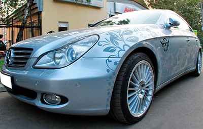 Изготовление наклеек для Mercedes-Benz CLS