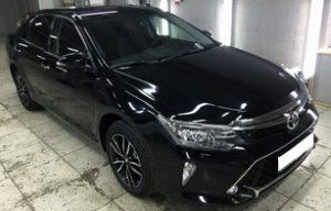 Оклейка передней части на Toyota Camry