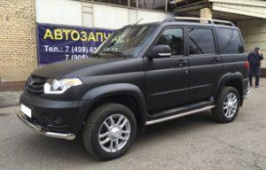 Полная оклейка УАЗ Патриот в черный мат KPMF