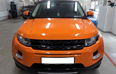 Полная оклейка Evoque в оранжевый глянец KPMF