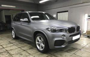 Полная оклейка BMW X5 в прозрачный мат