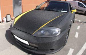 Полная оклейка Hyundai Tiburon в черную алмазную крошку