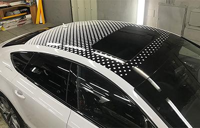 Винилография на крышу Audi S7