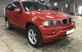 Полная оклейка BMW X5 в красный металлик 2