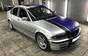 Оклейка BMW 3 серии в два цвета