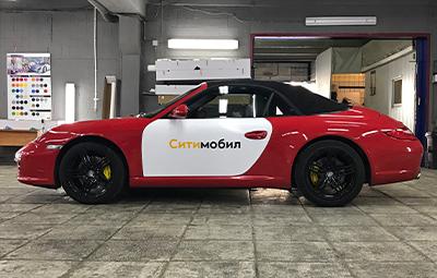 Брендирование Porsche Boxter для Сити мобил
