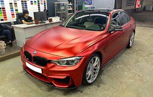 Частичная переклейка BMW 3 серии F30 в TeckWrap