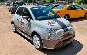 Изготовление наклеек на Fiat 500