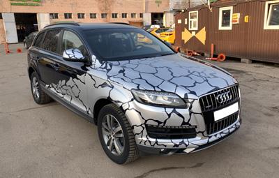Изготовление наклеек на Audi Q7