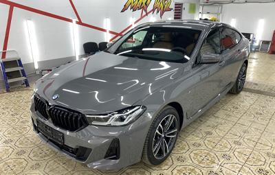Оклейка BMW 6 GT в полиуретан + зоны риска