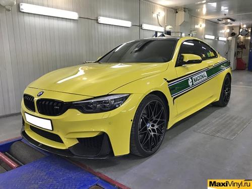 Изготовление наклеек на BMW M4