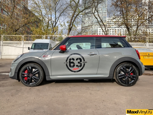 Наклейки 63 на Mini Cooper