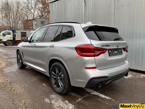 Полная оклейка BMW X3 в прозрачный мат