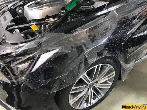 Оклейка передней части Hyundai Genesis в полиуретан