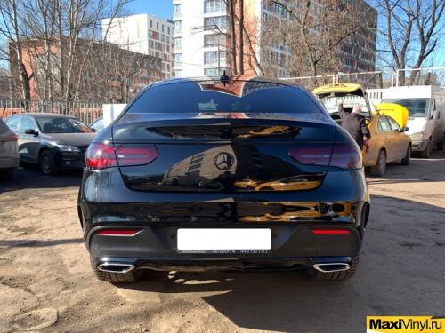 Полная оклейка Mercedes-Benz GLE Coupe в полиуретан + антихром