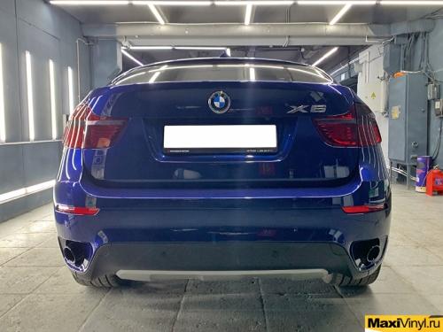 Тонирование фар в полиуретан на BMW X6