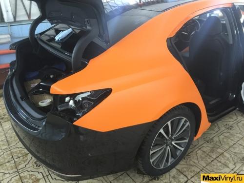Полная оклейка Acura TLX в оранжевый мат