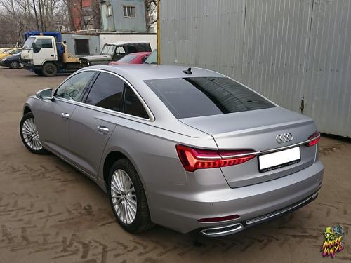 Полная оклейка Audi A6 в прозрачный мат