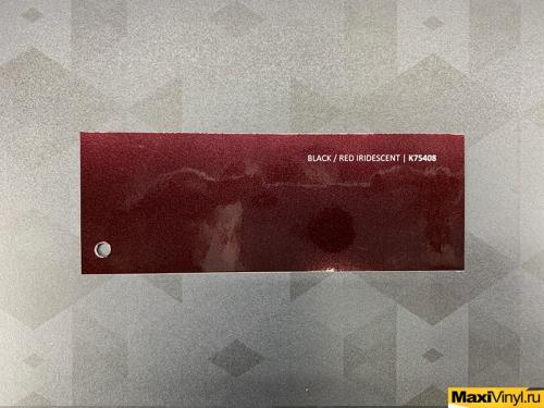 Black/red iridescent K75408<br>Вишнево-коричневый металлик с отливом в черный