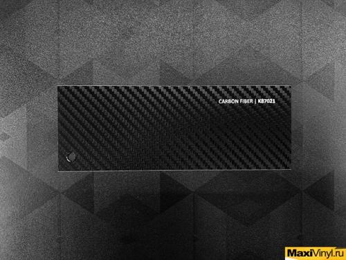 Сarbon fiber K87021<br>Черный матовый карбон с крупной текстурой