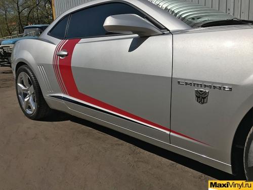 Изготовление полос на Chevrolet Camaro