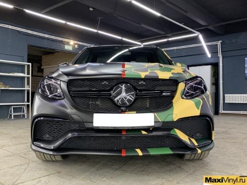 Оклейка в половинчатый камуфляж Mercedes-Benz GLE
