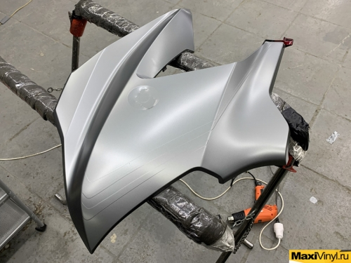 Полная оклейка Honda Goldwing в серый матовый металлик