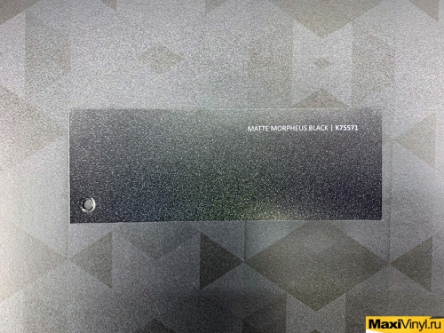 Matte morpheus black K75571<br>Черный матовый перламутр с крупными блестками разного цвета