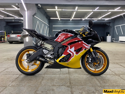 Изготовление наклеек на мотоцикл Yamaha R6